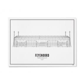 Wijck illustratie De Kuip stadion A3 40 x 40