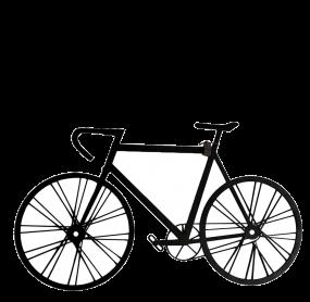 Fabryk design Racefiets zwart 100 x 58 cm