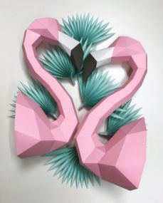 Assembli flamingo paper kit DIY