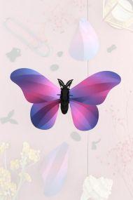 Assembli papieren Grote Zijde Vlinder paars metallic