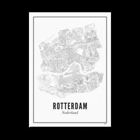 Wijck poster Rotterdam A3 30 x 40