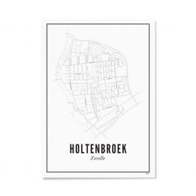Wijck Zwolle Holtenbroek poster A3 30 x 40