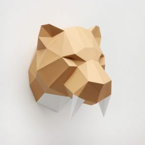 Assembli Sabeltandtijger paper kit DIY trofee