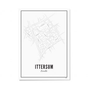 Wijck Zwolle Ittersum poster A3 30 x 40