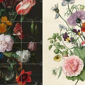 Ixxi wanddecoratie Flowers Dark & Light dubbelzijdig