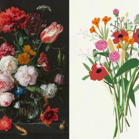 Ixxi Flower Power dubbelzijdig