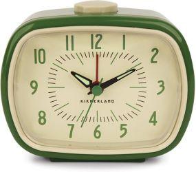 Kikkerland retro alarm clock wekker groen