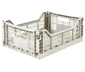 Folding Crates Midi Light Grey Eef Lillemor