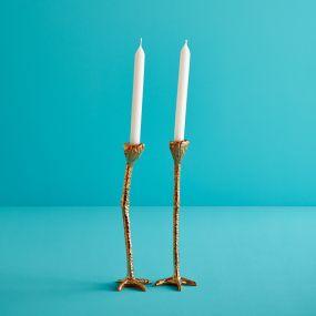 Jasmin Djerzic kandelaar Long Legs goud set van 2