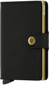 Secrid Mini wallet Crisple black gold