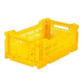 Folding Crates Mini Geel Eef Lillemor Ay-kasa