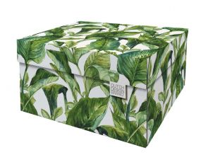 Dutch Design Storage Box Green Leaves