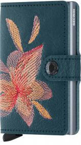 Secrid Mini wallet Stitch Magnolia Petrolio