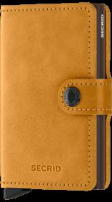 Secrid Mini wallet vintage oker geel