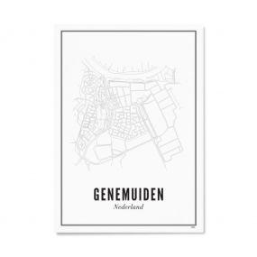 Wijck print stad Genemuiden A4 21 x 30