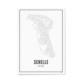 Wijck Zwolle Schelle poster A3 30 x 40