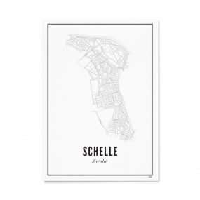 Wijck Zwolle Schelle poster 40 x 50 cm