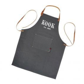 KOOK schort vintage grey