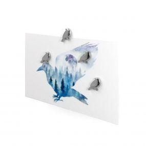 Trendform magneten Silverbird set van 4