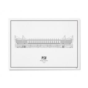 Wijck illustratie Philips stadion A3 30 x 40