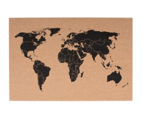 pt kurkbord World Map memobord