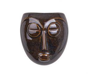 pt wandbloempot Mask donker bruin