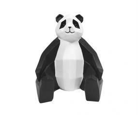 pt Origami panda beeld zwart wit