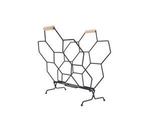 Pt lectuurhouder Honeycomb zwart