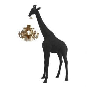 Qeeboo giraffe in love xs lamp zwart