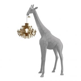 Qeeboo giraffe in love xs lamp Cold Sand