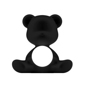 Qeeboo Teddy Girl outdoor oplaadbare LED lamp zwart
