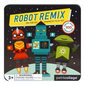 Petitcollage Robot remix magneten speelset