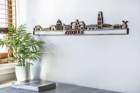 City shapes Skyline Zwolle notenhout 90 cm