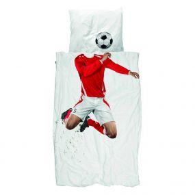 Snurk dekbedovertrek voetballer rood