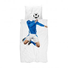 Snurk Soccer champ voetbal dekbed blauw 140 x 220