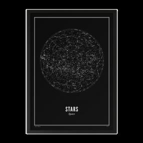 Wijck print Sterren zwart A4 21 x 30