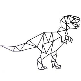 FBRK Design wanddecoratieT-Rex 9mm zwart