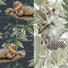 Ixxi dubbelzijdige wanddecoratie Chilling in the Jungle & Into the wild-small (80x100 cm)