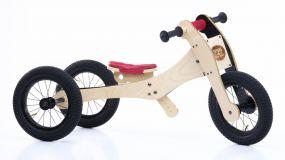 Trybike hout 3 in 1 loopfiets rood