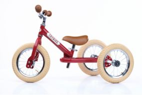Trybike Steel 2-in-1 loopfiets rood