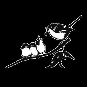 Metalbird Winterkoning met kuikens