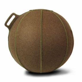 Vluv VELT Zitbal Bruin gemeleerd - Groen-H 60-65 cm