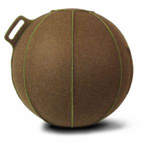 Vluv VELT Zitbal Bruin gemeleerd - Groen-H 70-75 cm