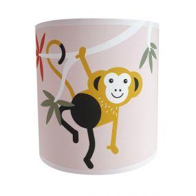 Bi&Li creaties wandlamp jungle aap roze