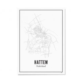 Wijck print stad Hattem A3 30 x 40
