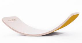 Wobbel balansbord blank gelakt mosterd oker geel