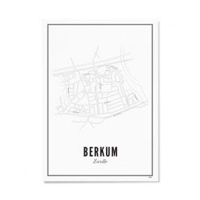 Wijck Zwolle Berkum poster A3 30 x 40