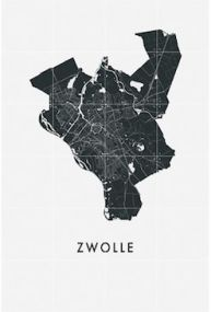 Ixxi Zwolle Art in Maps 80 x 120 cm
