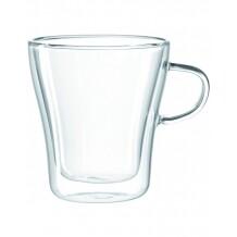 Leonardo Duo dubbelwandig glazen met oor 250 ml  4 stuks