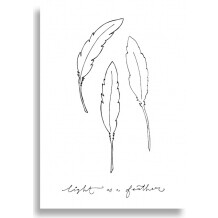Funny Side Up poster 30 x 40 cm 'light as a feather'